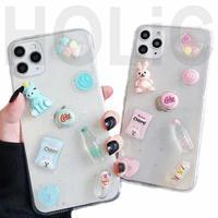 【No.158】  クリアケース ぷっくりデザイン iPhoneケース 2種類