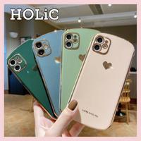 【No.304】ハートメッキ  iPhoneケース  4種類