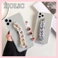 【No.242】クリアケース チェーンホルダー付き  iPhoneケース 2種類