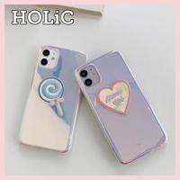 【No.212】ミラーデザイン ぷっくり iPhoneケース 4種類