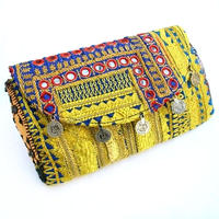 Banjara 2wayクラッチバッグ 1点物《bjc18》zariミラーワーク刺繍ヴィンテージテキスタイル