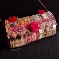 Banjara 2wayクラッチバッグ《bjc6》zariミラーワーク刺繍ヴィンテージテキスタイル