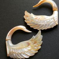 トライバルピアス 1ペア フェイクゲージ/shell swan