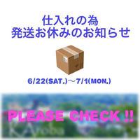 仕入れの為発送お休みのお知らせ(後日クーポン有)