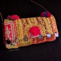 Banjara 2wayクラッチバッグ 1点物《bjc7》zariミラーワーク刺繍ヴィンテージテキスタイル