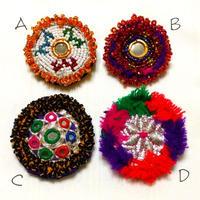アフガニスタン ビーズ刺繍ブローチ《A/B/C/D》