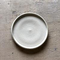玉縁フラット小皿 SHIRO