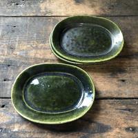 リムオーバル皿 / 小/織部