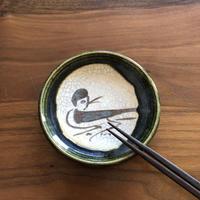 豆皿/織部(すずめ)