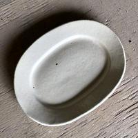 リムオーバル皿 小 SHIRO