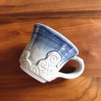 コーヒーカップ/青雲紋