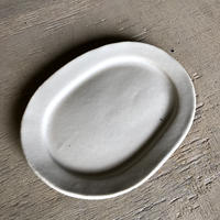 リムオーバル皿 中 SHIRO