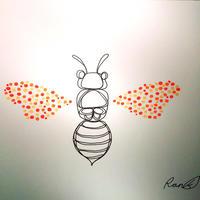 原画「蜂のはばたき」(額入り)