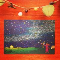 原画「内モンゴルの夜、空を駆ける矢」(額入り)
