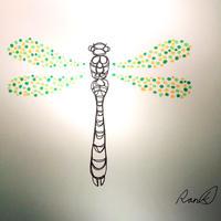 原画「蜻蛉のはばたき」(額入り)