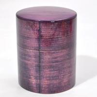 DD-2381 大館曲げわっぱ茶筒 Colorful パープル 山中塗 嘉匠菴 プロトタイプ!現品のみの販売です。