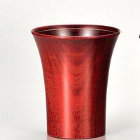 桜2.6冷酒カップ 赤摺 銀線 SX-244