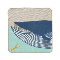 ふわふわタオル ナガスクジラ ブルー