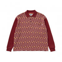 Door Jacquard L/SL Polo Red