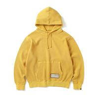 Overdyed Waffle Hoodie Yellow