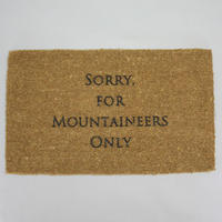 """MOUNTAIN RESEARCH """"Entrance Mat (Large) / エントランスマット L"""""""