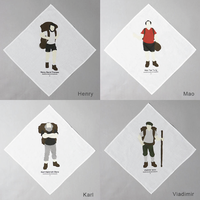 "MOUNTAIN RESEARCH ""Handkerchief / ハンカチ(Henry,Karl,Mao,Viadimir) """