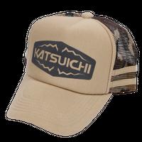KATSUICHI カモメッシュキャップ 【KA-13】<ベージュカモ>