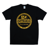 KATSUICHI ドライTシャツ 【KA-105】<ブラック>