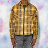 ORIGINAL OMBRE CHECK SHIRTS(YELLOW)