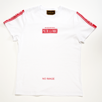 LINE SLEEVE LOGO BIG TEE (WHITE)