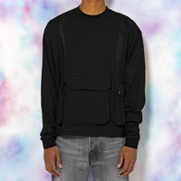 BATTLE VEST  LONG SLEEVE TEE(BLACK)