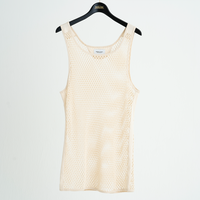 BIG MESH TANK TOP(OFF WHITE)