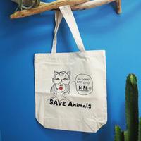 トートバッグ/宮古島SAVE THE ANIMALS チャリティGoods 【Dog/Cat】