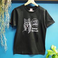 T-shirt/宮古島SAVE THE ANIMALS チャリティGoods  Dog/Black&White