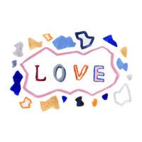 バレンタインギフト メッセージカード LOVE