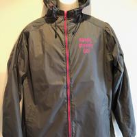 JK001-4  ナイロンフーデッドジャケット GRAY/PINK