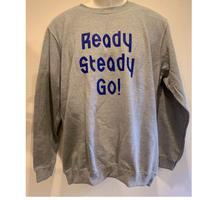 LS003-2 ロゴスウェットシャツ GRAY/BLUE