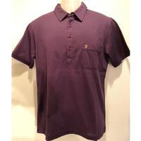 OL-15 FARAH/ファーラーニットポロシャツ Purple(M)