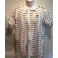 OL-016 Ben Sharman ニットストライプポロシャツ WHITE(M)