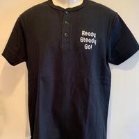 HT001   ヘンリーネックTシャツ BLACK/WHITE