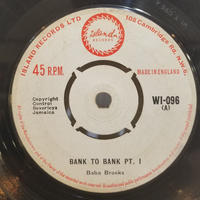 SP-0008 BANK TO BANK PT.1 PT.2   /BABA BROOKS    #SKA/中古レコードSP