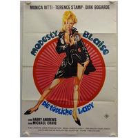 OP-033 唇からナイフ(MODESTY BLAISE)#映画ポスター/ドイツ版オリジナル/1966/590mm×840mm
