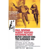 RP-004    明日に向かって撃て!(BUTCH CASSIDY AND THE SUNDANCE KID)   #映画ポスター/Reprint 430mm×278mm