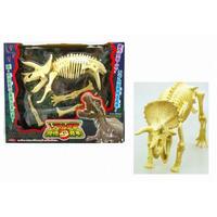 ●リアル恐竜 骨格見本トリケラトプス&ヴェロキラプトル 36個