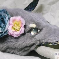 けものブレスレット(ねずみ色)
