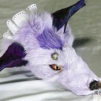 けものブレスレット(薄紫)