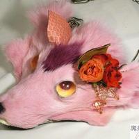 けものネックレス(ピンク)