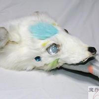 四つ目獣のブレスレット(白・水色)