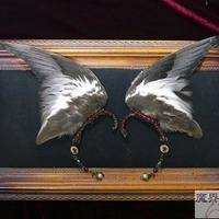 インコの翼イヤーフック(黒)