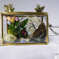 硝子小箱のネックレス(スズメ)